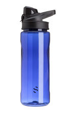 Water bottle with a lid - Bright blue - Men | H&M GB 1