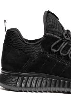 Suede trainers - Black - Men | H&M 4