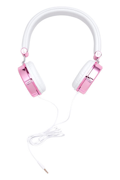 On-ear Headphones - Pink/white - Ladies | H&M CA 1