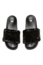 Slides - Black - Ladies | H&M 2