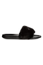 Slides - Black - Ladies | H&M 1