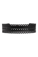 Hole-patterned waist belt - Black - Ladies | H&M IE 2
