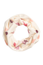 Hat and tube scarf - Natural white/Birds -  | H&M 2