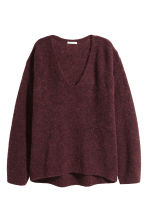 Mohair-blend jumper - Burgundy - Ladies | H&M 2