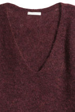 Mohair-blend jumper - Burgundy - Ladies | H&M 3