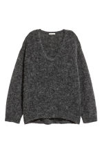 Mohair-blend jumper - Dark grey marl - Ladies | H&M CN 2