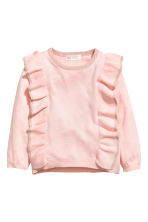 Fine-knit frilled jumper - Light pink/Glittery - Kids | H&M CN 2