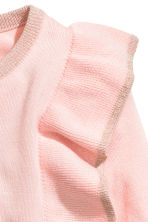 Fine-knit frilled jumper - Light pink/Glittery - Kids | H&M CN 3