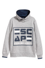 Funnel-collar sweatshirt - Grey marl - Kids | H&M CN 2