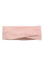 Ribbed headband - Powder pink/Gold-coloured - Ladies | H&M 1