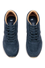 Suede trainers - Dark blue - Men | H&M CN 2