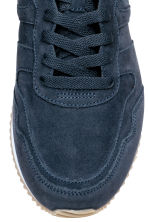 Suede trainers - Dark blue - Men | H&M CN 4