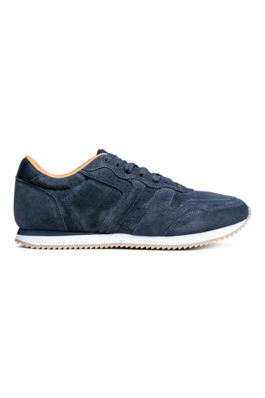Suede trainers - Dark blue - Men | H&M CN 1