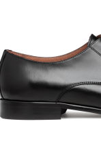 Leather Derby shoes - Black - Men | H&M 4