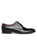 Leather Derby shoes - Black - Men | H&M 1