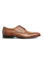 Leather Derby shoes - Cognac brown - Men | H&M 1