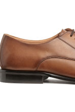 Leather Derby shoes - Cognac brown - Men | H&M 4