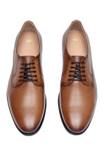 Leather Derby shoes - Cognac brown - Men | H&M 2