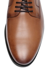 Leather Derby shoes - Cognac brown - Men | H&M 3