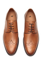 Leather brogues - Cognac brown - Men | H&M CN 2