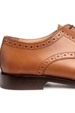 Leather brogues - Cognac brown - Men | H&M CN 4