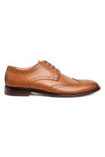 Leather brogues - Cognac brown - Men | H&M CN 1