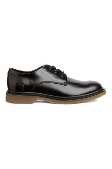 Derby shoes with chunky soles - Black - Men | H&M GB 1