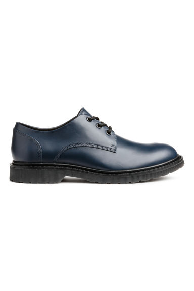 Derby shoes with chunky soles - Dark blue - Men | H&M CN 1