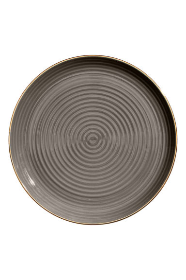 Textured porcelain plate - Dark grey - Home All | H&M CN 1