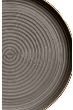 Textured porcelain plate - Dark grey - Home All | H&M CN 2