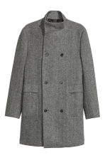 Wrapover coat - Black marl - Men | H&M CN 2