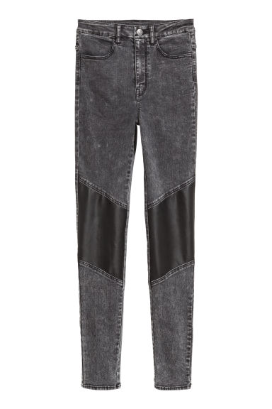 Stretchbroek - Zwart/washed out -  | H&M NL