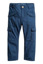 Cotton cargo pants - Dark blue - Kids | H&M 2