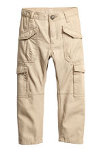 Cotton cargo pants - Beige -  | H&M 2
