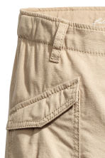 Cotton cargo pants - Beige -  | H&M 3