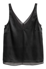 Double-layered top - Black - Ladies | H&M CN 2