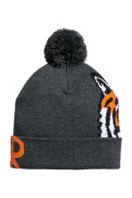 Fine-knit hat - Dark grey marl/Tiger - Kids | H&M CN 2
