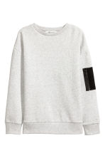 Sweatshirt - Light grey marl -  | H&M 2