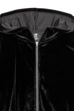 Velour Sports Jacket - Black - Ladies | H&M CA 3
