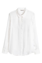 Long-sleeved blouse - White - Ladies | H&M 2