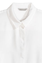 Long-sleeved blouse - White - Ladies | H&M 3