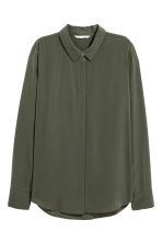 Long-sleeved blouse - Khaki green - Ladies | H&M 2