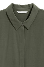 Long-sleeved blouse - Khaki green - Ladies | H&M 3