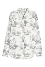 Long-sleeved blouse - White/Patterned - Ladies | H&M 2