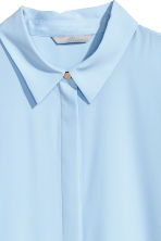 Long-sleeved blouse - Light blue - Ladies | H&M GB 3