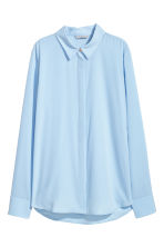 Long-sleeved blouse - Light blue - Ladies | H&M GB 2