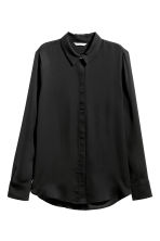 Long-sleeved blouse - Black - Ladies | H&M CN 2