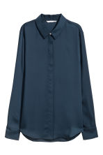 Long-sleeved blouse - Dark blue - Ladies | H&M IE 2
