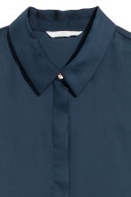 Long-sleeved blouse - Dark blue - Ladies | H&M IE 3