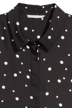 Long-sleeved blouse - Black/Spotted - Ladies | H&M GB 3